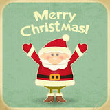 Retro Merry Christmas with Santa Claus Royalty Free Stock Photography