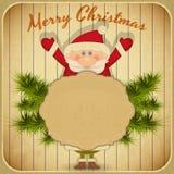 Retro Merry Christmas with Santa Claus Royalty Free Stock Photo