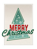 Retro merry christmas typography Stock Photography