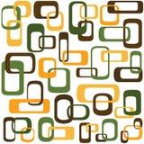 Retro met elkaar verbindende vierkanten Stock Afbeelding