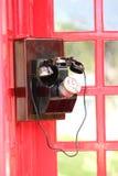 Retro metal black antique telephone. Royalty Free Stock Image