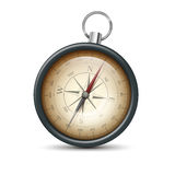 Retro metal compass Royalty Free Stock Photography