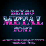 Retro Metal Font Royalty Free Stock Photography