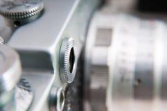 Retro metal kamera fotografia stock