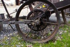 Retro metal plow stock photo