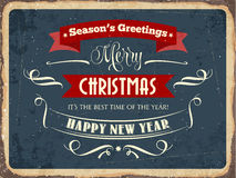 Retro metal sign. Merry Chrismas, eps10 vector format Royalty Free Stock Images