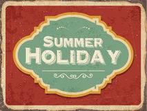 Retro metal sign. Summer holiday, eps10 vector format Stock Photography
