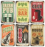 Retro metal signs  set Royalty Free Stock Photography