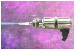 Retro metal space gun Royalty Free Stock Images