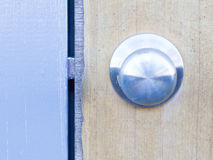 The retro metallic doorknob. The details of retro metallic doorknob Stock Photos