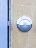 The retro metallic doorknob. The details of retro metallic doorknob Royalty Free Stock Images