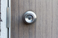 The retro metallic doorknob. The details of retro metallic doorknob Stock Image