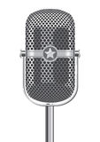 Retro Metallic Microphone. On white background Stock Photos