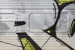 Retro metallic train structure detail. Horizontal format royalty free stock photo
