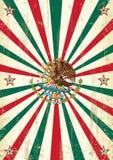 Retro- mexikanisches Sonnenstrahlplakat Stockbild