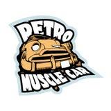 Retro mięśnia samochodu ilustracja Rocznik koszulki druku szablon ilustracja wektor