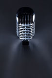 Retro Mic. Background with the space for text Royalty Free Stock Images