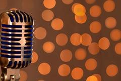 Retro microfono Fotografie Stock