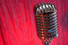 Retro microfono Immagine Stock