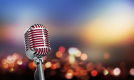 Retro microfono di stile Fotografie Stock Libere da Diritti