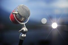 Retro microfoon Stock Afbeeldingen