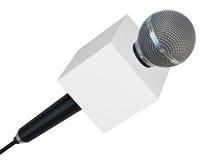 Retro Microfoon Stock Fotografie