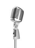Retro microfoon stock illustratie