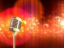 Retro Microfoon Uitstekende Affiche Als achtergrond Royalty-vrije Stock Afbeelding