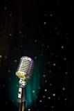 Retro microphone. Retro studio microphone at a concert venue Stock Images