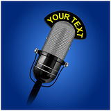 Retro microphone. Vector retro microphone in realistic style Royalty Free Stock Photography