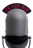 Retro microphone. Isolated on a white Stock Image