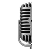 Retro microphone. Isolated over white background Stock Photo