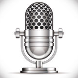 Retro microphone. Royalty Free Stock Photo