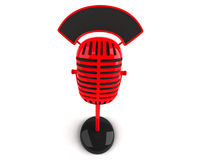 Retro microphone. 3d generated picture Royalty Free Stock Images