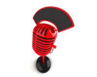 Retro microphone. 3d generated picture Stock Photo