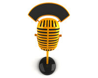 Retro microphone. 3d generated picture Royalty Free Stock Photo