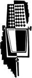 Retro Microphone royalty free illustration