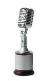 Retro microphone. Solid state retro microphone with stand stock image
