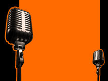 Retro microphone. And paths, singer stock illustration