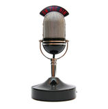 Retro microphone. Isolated on white Royalty Free Stock Photography