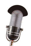 Retro Microphone. Used for radio, talk back, news broadcasts Stock Photos