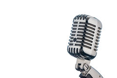 Retro microphone against white background Royalty Free Stock Image