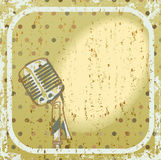 Retro microphone background Royalty Free Stock Images