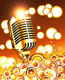 Retro microphone in the Blue sky - JPG Royalty Free Stock Photo