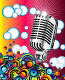 Retro microphone in the Blue sky - JPG stock photos