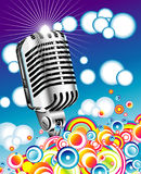 Retro microphone in the Blue sky - JPG Stock Photography