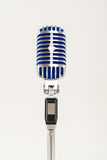 Retro Microphone. Close-up of a vintage silver microphone royalty free stock photos