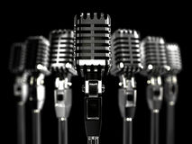 Retro microphone 3 D Stock Image