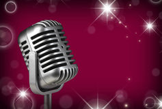 Retro microphone. Dynamic microphone royalty free stock image