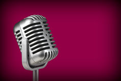 Retro microphone. ( Dynamic microphone ) royalty free stock photo
